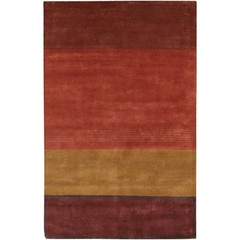 Buy Chandra Rugs Aadi Hand-Knotted Contemporary Burgundy Rug - AAD1426 on sale online