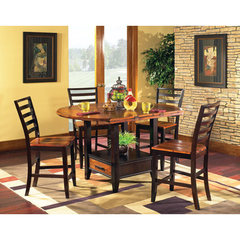 Buy Steve Silver Abaco 5 Piece Drop Leaf 59 Inch Round Counter Height Set on sale online