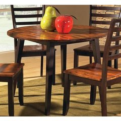 Buy Steve Silver Abaco Double Drop Leaf 42 Inch Round Dining Table on sale online