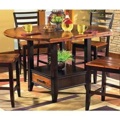 Buy Steve Silver Abaco Drop Leaf 59 Inch Round Counter Height Table on sale online