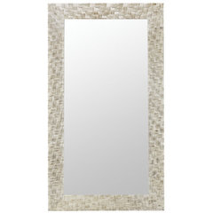 Buy Cooper Classics Abbott 71x41 Mirror in Distressed Off White on sale online