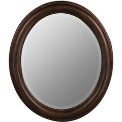 Buy Cooper Classics Addison 30x26 Oval Mirror in Tobacco on sale online