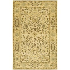 Buy Chandra Rugs Adonia Hand-Tufted Traditional Yellow Rug - ADO906 on sale online