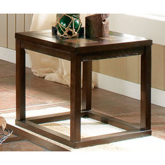 Buy Steve Silver Alberto 24 Inch Square End Table in Rich Cherry on sale online