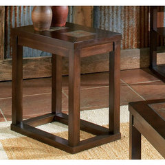 Buy Steve Silver Alberto 24x13 Chairside End Table in Rich Cherry on sale online