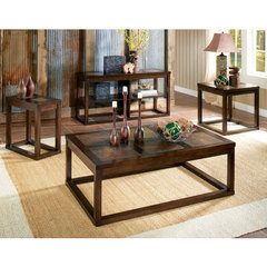 Buy Steve Silver Alberto 4 Piece Occasional Table Set in Rich Cherry on sale online