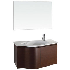 Buy Wyndham Collection Aldo 35.25 Inch White Stone Top Single Sink Vanity Set in Ironwood on sale online