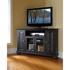 Buy Crosley Furniture Alexandria 48 Inch Corner TV Stand in Black on sale online