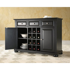 Buy Crosley Furniture Alexandria Buffet Server w/ Wine Storage in Black on sale online