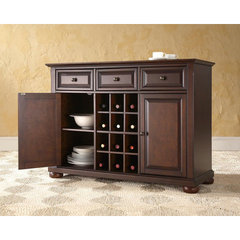 Buy Alexandria Buffet Server w/ Wine Storage in Vintage Mahogany on sale online