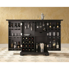 Buy Crosley Furniture Alexandria Expandable Bar Cabinet in Black on sale online