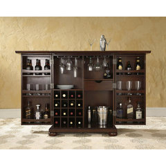 Buy Crosley Furniture Alexandria Expandable Bar Cabinet in Vintage Mahogany on sale online