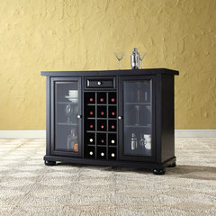 Buy Crosley Furniture Alexandria Sliding Top Bar Cabinet in Black on sale online