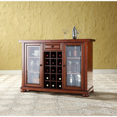 Buy Crosley Furniture Alexandria Sliding Top Bar Cabinet in Classic Cherry on sale online