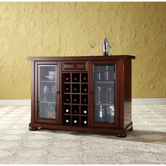 Buy Crosley Furniture Alexandria Sliding Top Bar Cabinet in Vintage Mahogany on sale online