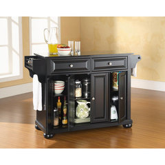 Buy Crosley Furniture Alexandria Solid Black Granite Top Kitchen Island in Black on sale online