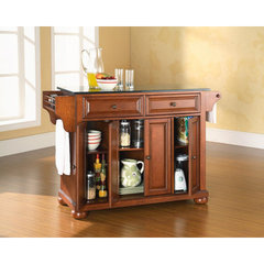 Buy Crosley Furniture Alexandria 52x18 Solid Black Granite Top Kitchen Island in Classic Cherry on sale online