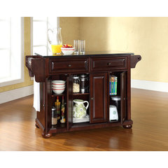 Buy Crosley Furniture Alexandria Solid Black Granite Top Kitchen Island in Vintage Mahogany on sale online
