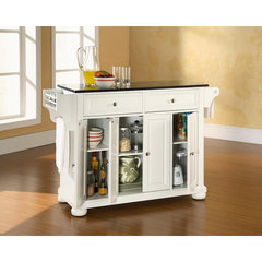Buy Crosley Furniture Alexandria Solid Black Granite Top Kitchen Island in White on sale online