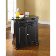 Buy Crosley Furniture Alexandria Solid Black Granite Top Portable Kitchen Island in Black on sale online