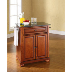 Buy Crosley Furniture Alexandria 28x18 Solid Black Granite Top Portable Kitchen Island in Classic Cherry on sale online