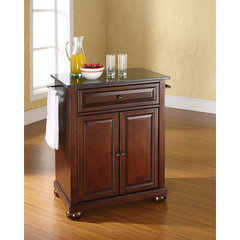 Buy Crosley Furniture Alexandria Solid Black Granite Top Portable Kitchen Island in Vintage Mahogany on sale online