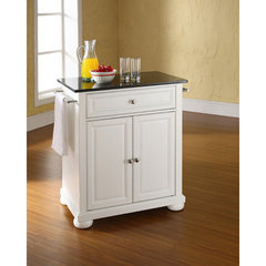Buy Crosley Furniture Alexandria 28x18 Solid Black Granite Top Portable Kitchen Island in White on sale online