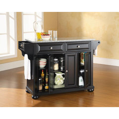 Buy Crosley Furniture Alexandria Solid Granite Top Kitchen Island in Black on sale online