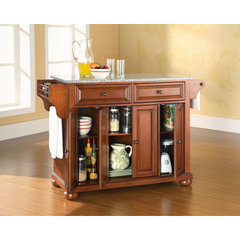 Buy Crosley Furniture Alexandria 52x18 Solid Granite Top Kitchen Island in Classic Cherry on sale online