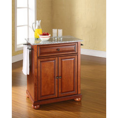 Buy Crosley Furniture Alexandria 28x18 Solid Granite Top Portable Kitchen Island in Classic Cherry on sale online
