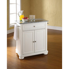 Buy Crosley Furniture Alexandria Solid Granite Top Portable Kitchen Island in White on sale online