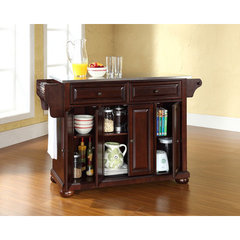 Buy Crosley Furniture Alexandria Stainless Steel Top Kitchen Island in Vintage Mahogany on sale online