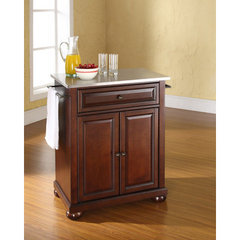 Buy Crosley Furniture Alexandria 28x18 Stainless Steel Top Portable Kitchen Island in Vintage Mahogany on sale online