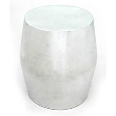 Buy Allan Copley Designs Antiqua 18x18 Round End Table in Polished Cast Aluminum on sale online