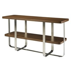 Buy Allan Copley Designs Artesia 54x18 Rectangular Console Table w/ Walnut Stain Top on sale online