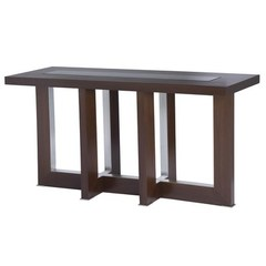 Buy Allan Copley Designs Bridget 58x19 Rectangular Console Table w/ Glass Inset on sale online