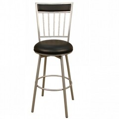Buy American Heritage Alliance 30 Inch Barstool in Silver on sale online