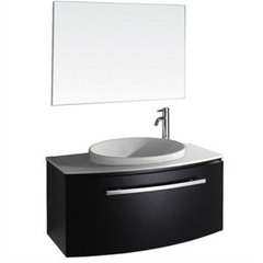 Buy Wyndham Collection Allura 39.5 Inch White Stone Top Single Sink Vanity Set in Espresso on sale online