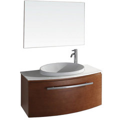 Buy Wyndham Collection Allura 39.5 Inch White Stone Top Single Sink Vanity Set in Pearwood on sale online