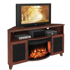 Buy Furnitech Ambience 60 inch TV Corner Media Console w/ 25 inch Electric Fireplace on sale online