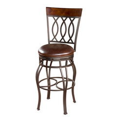 Buy American Heritage Bella 34 Inch Bar Stool in Pepper on sale online