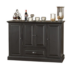 Buy American Heritage Carlotta 60x22 Home Bar in Antique Black on sale online