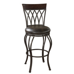 Buy American Heritage Palermo 30 Inch Bar Stool in Autumn Rust on sale online
