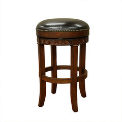 Buy American Heritage Portofino 34 Inch Bar Stool in Dark Wood on sale online