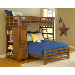 Heartland Twin Over Full Student Loft  Bed in Spice