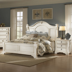 Buy American Woodcrafters Heirloom Antique White 2 Piece Poster Bedroom Set in Antique White on sale online