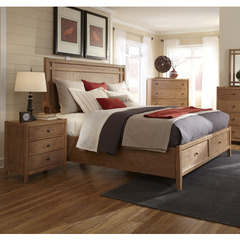 Buy American Woodcrafters Natural Elements 2 Piece Storage Panel Bedroom Set in Soft Driftwood on sale online