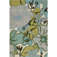 Buy Chandra Rugs Amy Butler Hand-Tufted Designer Green Rug - AMY13209 on sale online