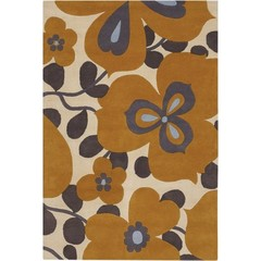 Buy Chandra Rugs Amy Butler Hand-Tufted Designer Orange Rug - AMY13213 on sale online