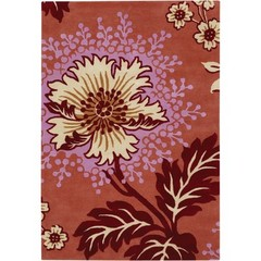Buy Chandra Rugs Amy Butler Hand-Tufted Designer Red Rug - AMY13208 on sale online